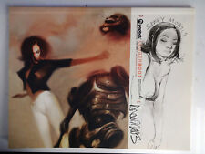 Ashley Wood Legger Boot Book with original mixed media signed art on cover.