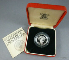 1984 UK Scottish Sterling Silver Proof Piedfort One Pound Coin - 19 grams £1