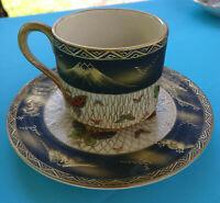 Demitasse Cup & Saucer, Koshida Kyoto, Made in Japan, Handpainted, Circa 1920's