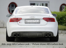 Rieger Heckeinsatz Doppelendrohr li/re für Audi A5 B8 Coupe/ Cabrio Facelift/ S5