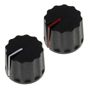 Large Plastic Push-Fit Splined Pot Knob / Volume Dial Control Switch