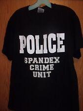Spandex Fashion Police Crime Unit black L t shirt