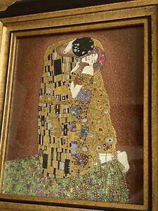 Gustav Klimt Der Kuss aus Edelsteinen Stark Limitiertes Drache Solingen Bild
