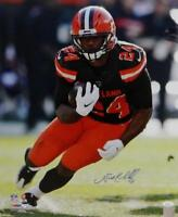 Nick Chubb Autographed Cleveland Browns 16x20 PF Running -JSA W Auth *Blue