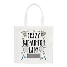 Crazy Badminton Lady Stars Regular Tote Bag Funny Sport