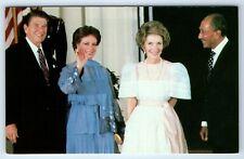 Vintage Postcard President Ronald Reagan Nancy Egypt President Anwar Jihan Sadat