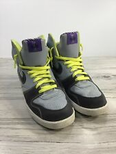 NIKE Gray Purple Yellow Laces High Top Sneakers 354034-003 Size 10-1/2 #7