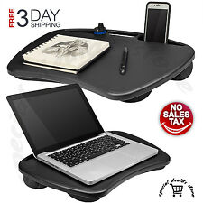 """Portable Laptop Lap Desk Table Bed Tray Notebook Cooling Pad Computer Stand 15"""""""