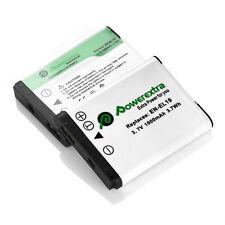2 x EN-EL19 Replacement Battery For Nikon Coolpix S100 S2800 S3100 S3200 S3300