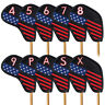 Golf Iron Head Covers 10pcs USA Flag Golf Accessories for Taylormade Callaway