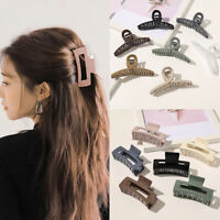 Large Size Geometric Hair Claws Square Hollow Cross Transparent Hair Clip Women