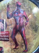 Power Rangers Adult Costume Red Mens Size XXL 50-52 Halloween Cosplay