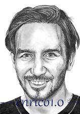 Felix Neureuther Graphitzeichnung, Portrait, Unikat