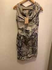 All Saints Delft Print Cocktail Evening Dress Size 6 BNWT Read Desc RRP £165