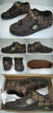 New Mens 8 Circa 207 Se Brown Plaid Leather SkateBoard Shoes $80