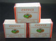 3 PAPAYA Skin Whitening Organic Papaya Soap Herbal Soap Family size