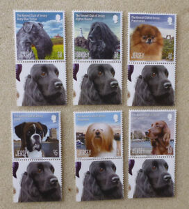 2013 JERSEY KENNEL CLUB DOGS SET OF 6 MINT STAMPS MNH