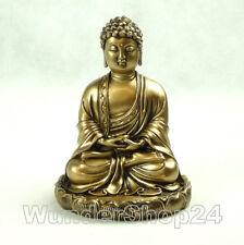 Glücksbuddha Buddha Feng Shui Figur Statue 15,5 cm Gold Farbe Asia China Deko
