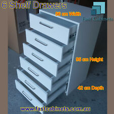 6 shelf drawers White Melamine Wardrobe