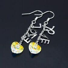 18K White Gold Filled Crystal Earrings (E-149)