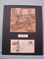 The Central Pacific Railroad Engine 1 & California First Day Cover