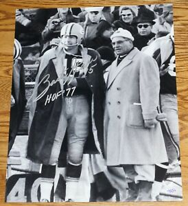"""BART STARR """"HOF 77"""" Signed Green Bay Packers 16x20 Photo with Vince Lombardi"""