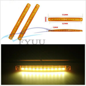 20X 24V 12LED Yellow Car Truck Lorries Side Marker Light Clearance Tail Lamp