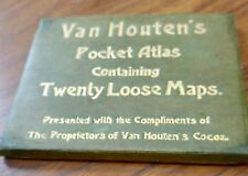 Antique map, Van Houten's Pocket Atlas, c.1896