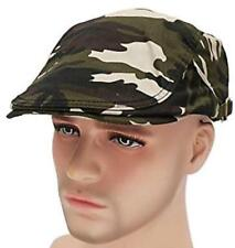 NEW Camouflage Military Strap Newsboy Cap Driving Cabby Ivy Golf Beret Hat CAMO