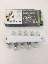 10 Pack Miniature Lamp,1003,12W,B6,13V,PK2 GE LIGHTING 1003LL/BP2