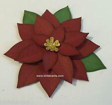 Stampin Up Festive Flower (Poinsettia) Punch Art Cardstock Kit - Makes 2
