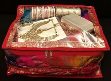 One XL Red Saree Silk Bag Wardrobe Storage Indian Lehnga Long Suit Bag Deep Box