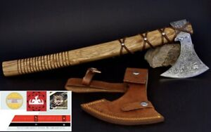 "CUSTOM HANDMADE DAMASCUS STEEL WOOD AXE HATCHET TOMAHAWK KNIFE WITH SHEET 16"""