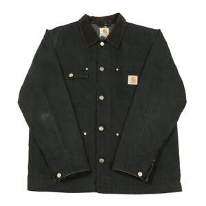 CARHARTT WIP Fleece Lined Michigan Chore Coat | Medium | Work Canvas Jacket