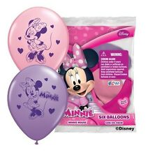 (6ct) Disney Minnie Mouse Birthday Latex Balloons Party Supplies