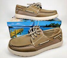 Margaritaville Men's Comfort Boat Deck Shoes MFM191108 PALM Size 12 Parrot Heads