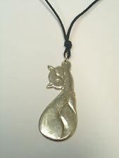 Ciondolo in ARGENTO 925 con Gatto - pendente con Micio - girocollo con felino