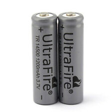 2Pcs UltraFire TR 14500 1200mAh 3.7V Li-ion AA Rechargeable Batteries For Torch