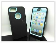 Black ybrid Body Armor Rubber Silicone Cover Case For Apple iPhone 5 5S 5G