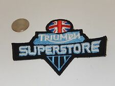 TRIUMPH MOTORCYCLES SUPERSTORE PATCH BRITISH FLAG