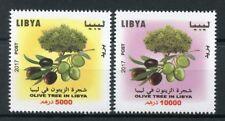 Libya 2017 MNH Olive Tree High Face Value 2v Set Trees Stamps