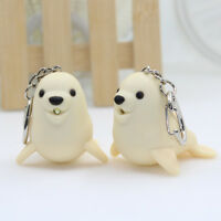 Cute Sea Lion Shaped LED Light Luminous Vocal Keychain Mini Flashlight Kids Gift