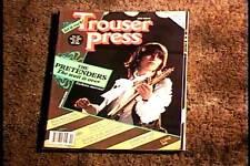 TROUSER PRESS MAGAZINE NOV 1981  VF PRETENDERS ROCK & ROLL