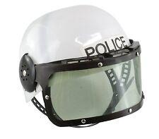 Kids Childrens Police Officer SWAT Team Plastic Costume Helmet