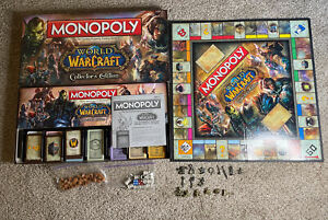 Near Complete 2012 World of Warcraft Monopoly Collector's Edition 1 Card Missing