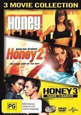 Honey / Honey 2 / Honey 3 - Dare To Dance DVD, 2016, 3-Disc Set R4
