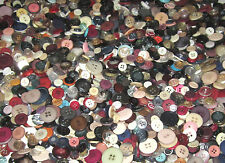 Lot of 1000 Assorted Sizes of Colorful Sew On BUTTONS crafts sewing scrapbooking