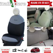 FODERE COPRISEDILI Su Misura! FIAT 500 Fodera FODERINE COMPLETE Grigio/Nero