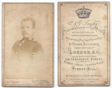 CDV Victorian Soldier Carte de Visite by Taylor of London