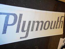 "PLYMOUTH ROAD RUNNER GTX VALIANT DUSTER FURY HUGE QUARTER PANEL DECAL 33"" BLACK"